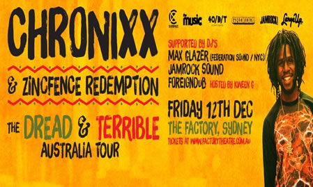 Chronixx Touring Australia