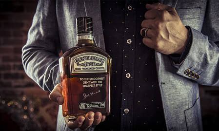 Engrave a bottle of Gentleman Jack this Christmas