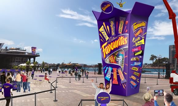 Pick For $1m From The World's Biggest Cadbury Favourites Box