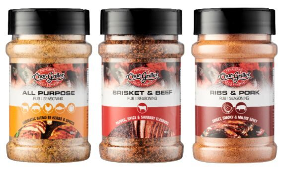Fire up the barbie with Char-Griller's new BBQ Rubs